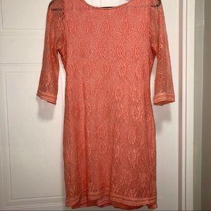 Sanctuary pink lace dress